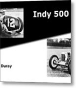 The Flying Frenchman Indy 500 1927 Leon Duray Metal Print