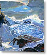 The Foaming Sea Metal Print