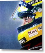 The Focus Of Ayrton Metal Print