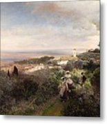 The Footpath From Ariccia To Albano Metal Print