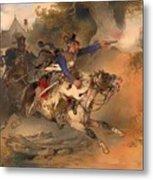 The Foraging Hussar 1840 Metal Print