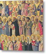 The Forerunners Of Christ With Saints And Martyrs Metal Print