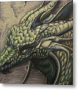 The Forest Dragon Metal Print