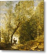 The Forest Of Coubron Metal Print