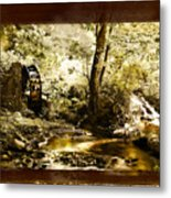 The Forgotten Watermill Wheel Metal Print