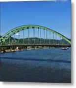 The Fort Henry Bridge - Wheeling West Virginia Metal Print