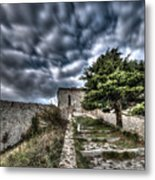 The Fortress The Tree The Clouds Metal Print