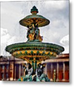 The Fountain At Le Concorde Metal Print