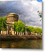 The Four Courts In Reconstruction 2 Metal Print