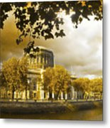 The Four Courts In Reconstruction Sepia Metal Print