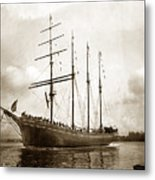 The Four-masted Barkentine  Jane Stanford Built By Hans Bendixse 1892 Metal Print