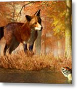 The Fox And The Turtle Metal Print