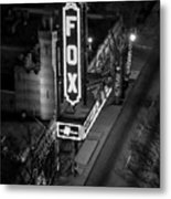 The Fox Thearter Bw Atlanta Night Art Metal Print