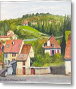 The French Village Of Billy In The Auvergne Metal Print