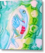 The Frog And Flower Metal Print