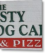 The Frosty Frog Cafe Sign Metal Print