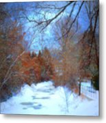 The Frozen Creek Metal Print
