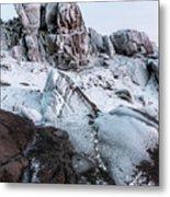 The Frozen Peak Of Bearnagh Metal Print