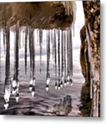 The Frozen Veil Metal Print