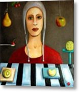 The Fruit Collector Metal Print by Leah Saulnier The Painting Maniac