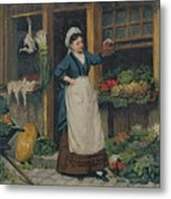 The Fruit Seller Metal Print by Victor Gabriel Gilbert