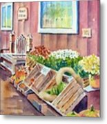 The Fruit Stand Metal Print by Bobbi Price