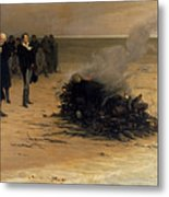The Funeral Of Shelley Metal Print