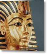 The Funerary Mask Of Tutankhamun Metal Print