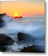 The Fury Of The Sea Metal Print