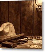The Gambler Hat Metal Print