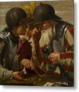 The Gamblers Metal Print by Hendrick Ter Brugghen