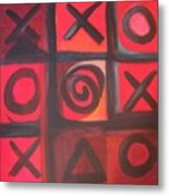 The Game Is Fixed Metal Print by Andrea Friedell