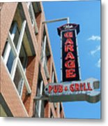 The Garage Pub Metal Print