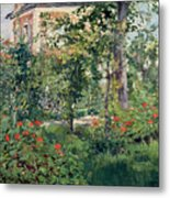 The Garden At Bellevue Metal Print by Edouard Manet