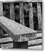 The Garden Bench Metal Print
