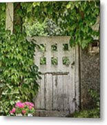 The Garden Door - V Metal Print
