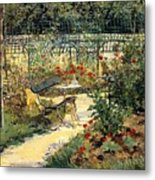 The Garden Of Manet Metal Print