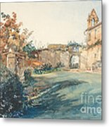 The Garden Of San Miniato Near Florence Metal Print