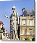 The Gardens Of Luxembourg Palace, Paris Metal Print