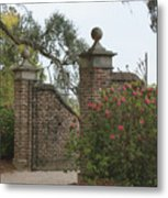 The Gate At Boone Hall Metal Print