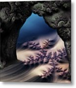 The Gate In The Grotto Metal Print