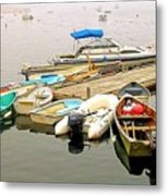 The Gathering At Southwest Harbor Metal Print