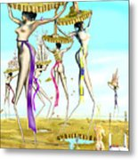 The Gathering Of Male Religious Symbols Two Metal Print