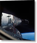 The Gemini 7 Spacecraft In Earth Orbit Metal Print