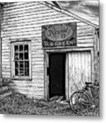 The General Store Bw Metal Print
