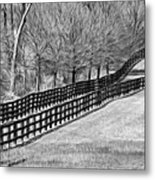 The Geometry Of Spring - Paint Bw Metal Print