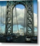 The George Washington Bridge  Metal Print