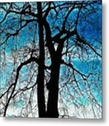 The Ghostly Tree Metal Print