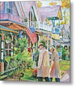 The Gingerbread Cottages Metal Print