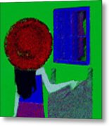 The Girl In The Mirror Metal Print